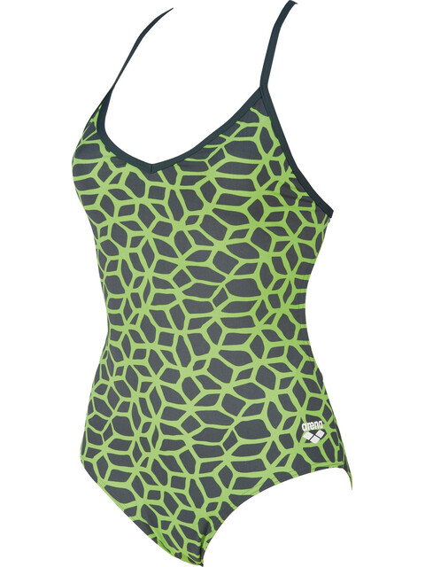 arena Carbonics L One Piece Swimsuit Women shadow grey-leaf